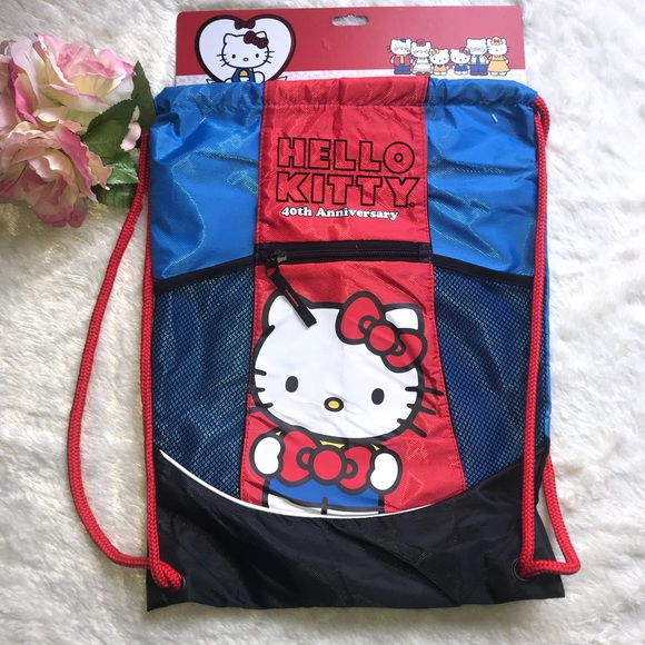 817d1cd153 Hello Kitty String 🎒 backpack red and blue